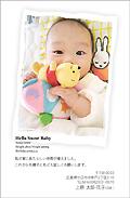 出産報告はがき テンプレート型番:T1-018