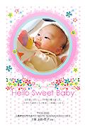 出産報告はがき テンプレート型番:T1-027