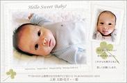 出産報告はがき テンプレート型番:T2-002