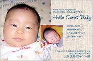 出産報告はがき テンプレート型番:T2-015