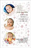 出産報告はがき テンプレート型番:T3-022