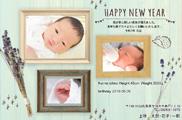 出産報告はがき テンプレート型番:T3-033
