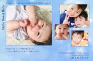 出産報告はがき テンプレート型番:T4-011