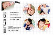 出産報告はがき テンプレート型番:T5-005